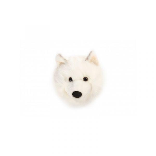 Pluchen Dierenkop Lucy / Witte Wolf