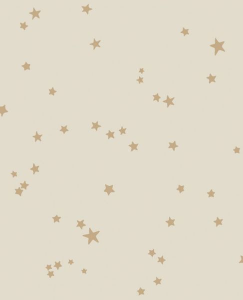 Behangpapier / Stars Buff & Gold