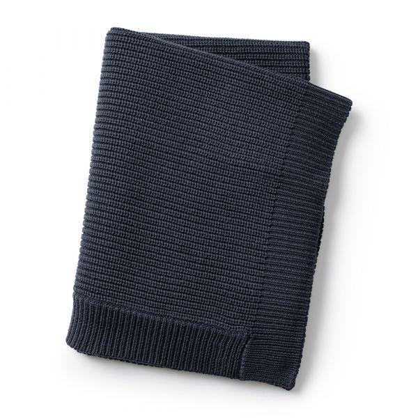 Wool Knitted Blanket / Juniper Blue