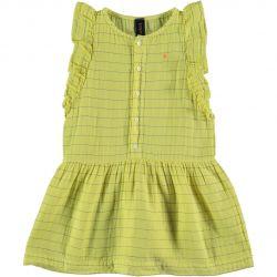 Dress Frill Stripes Dot / Sunshine Yellow