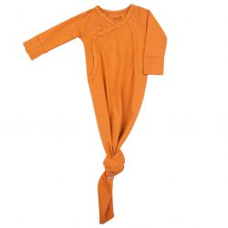 Knotted Baby Gown / Inca Rust