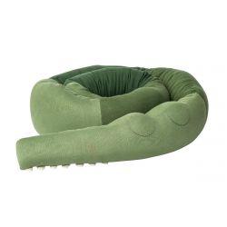 Knitted cushion XXL/ Sleepy Croc pine green