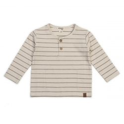 Long Sleeve Top / Caramel Stripe
