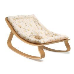 Rocker LEVO in Beech with Garbo & Friends Mimosa cushion