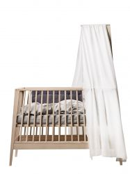 Canopy Linea Baby Cot / White