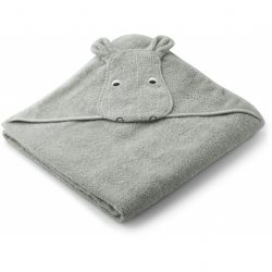 Augusta Hooded Towel / Hippo Dove Blue