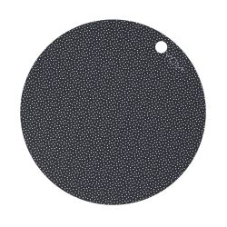 Placemat Dot 2 Pack / Dark Grey