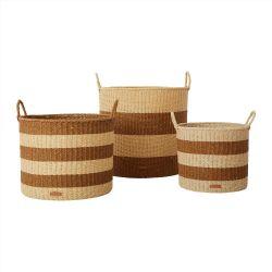 Gomi Cylinder Storage Baskets - Set of 3