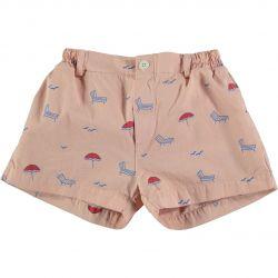 Short Button Sun Beds / Dusty Pink