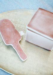 Ice Cream rammelaar / Velours Pink