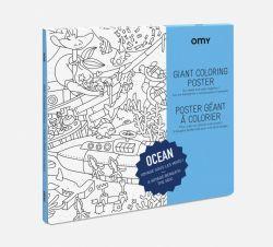 Grote inkleurposter / Oceaan