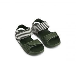 Blumer Sandales / Stripe: Hunter Green/Sandy