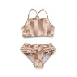 Norma Bikini Set Seersucker / Stripe Tuscany Rose/Sandy