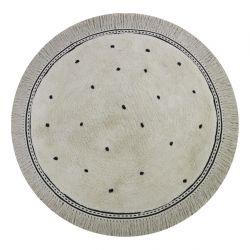 Vloerkleed  /  Rug Anna Dots Cream   (110 x 110)